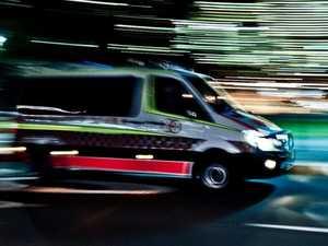 Man injured as car crashes into power pole