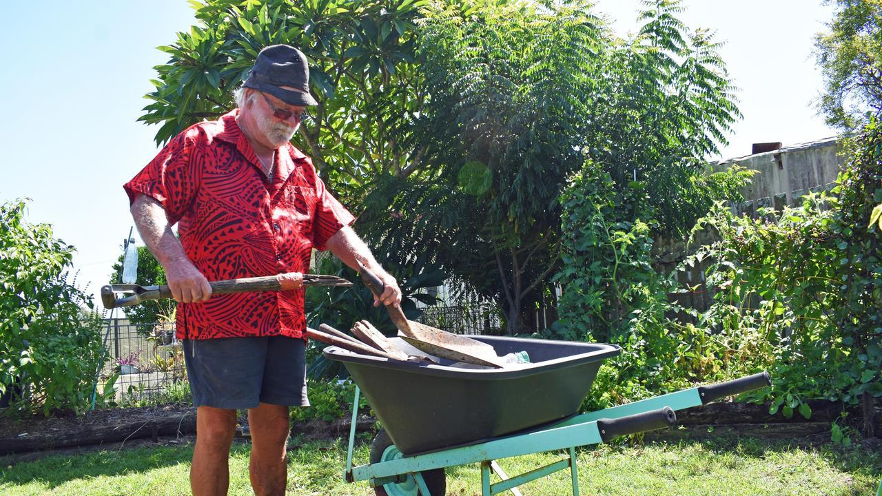 Jerry Cresswell's garden in Dyraaba St has plenty of vegie. PIC: SUSANNA FREYMARK