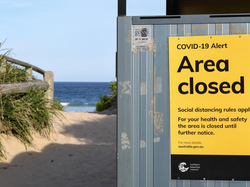 Beaches have been closed after large crowds in Bondi flouted the social distancing ban. Picture: James D. Morgan/Getty Images.