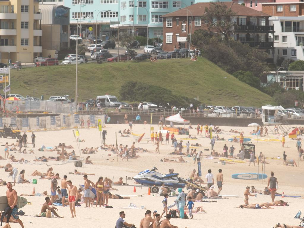 Sydney councils have announced a raft of beach closures after people flocked to Bondi Beach on Friday and Saturday. Picture: AAP Image/James Gourley