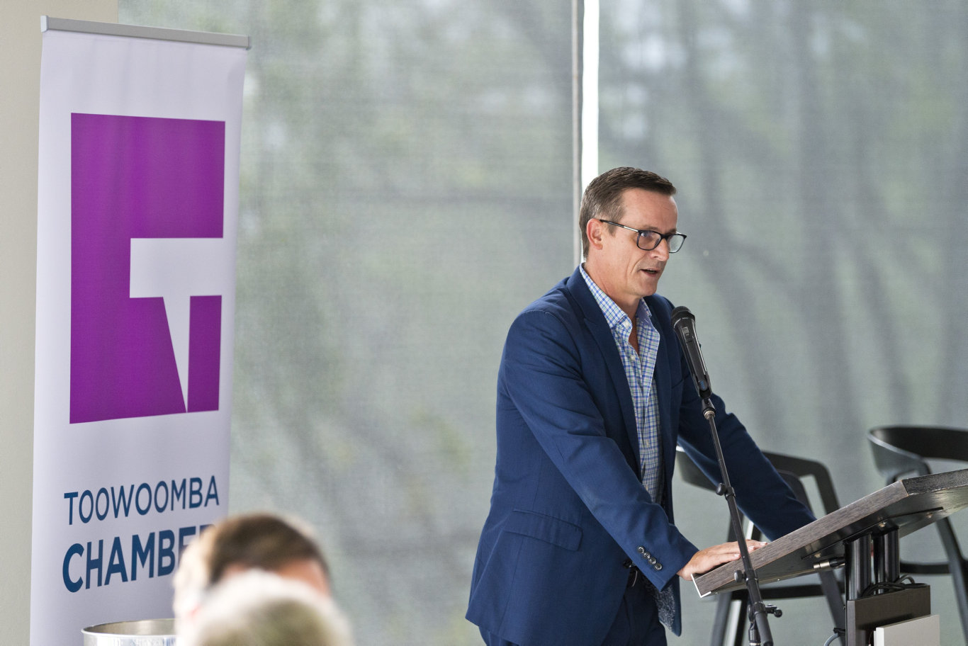 Toowoomba Chamber of Commerce CEO Todd Rohl at the mayoral debate breakfast hosted by Toowoomba Chamber at Picnic Point, Tuesday, March 10, 2020. Picture: Kevin Farmer