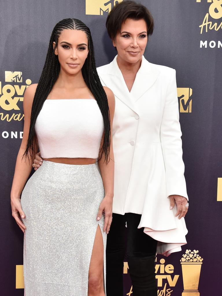 Kim Kardashian and Kris Jenner. Picture: Alberto E. Rodriguez/Getty Images