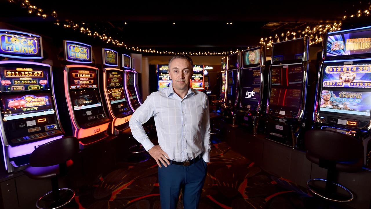 The Ville Resort-Casino CEO Michael Jones in the casino which has shut down. Picture: Evan Morgan