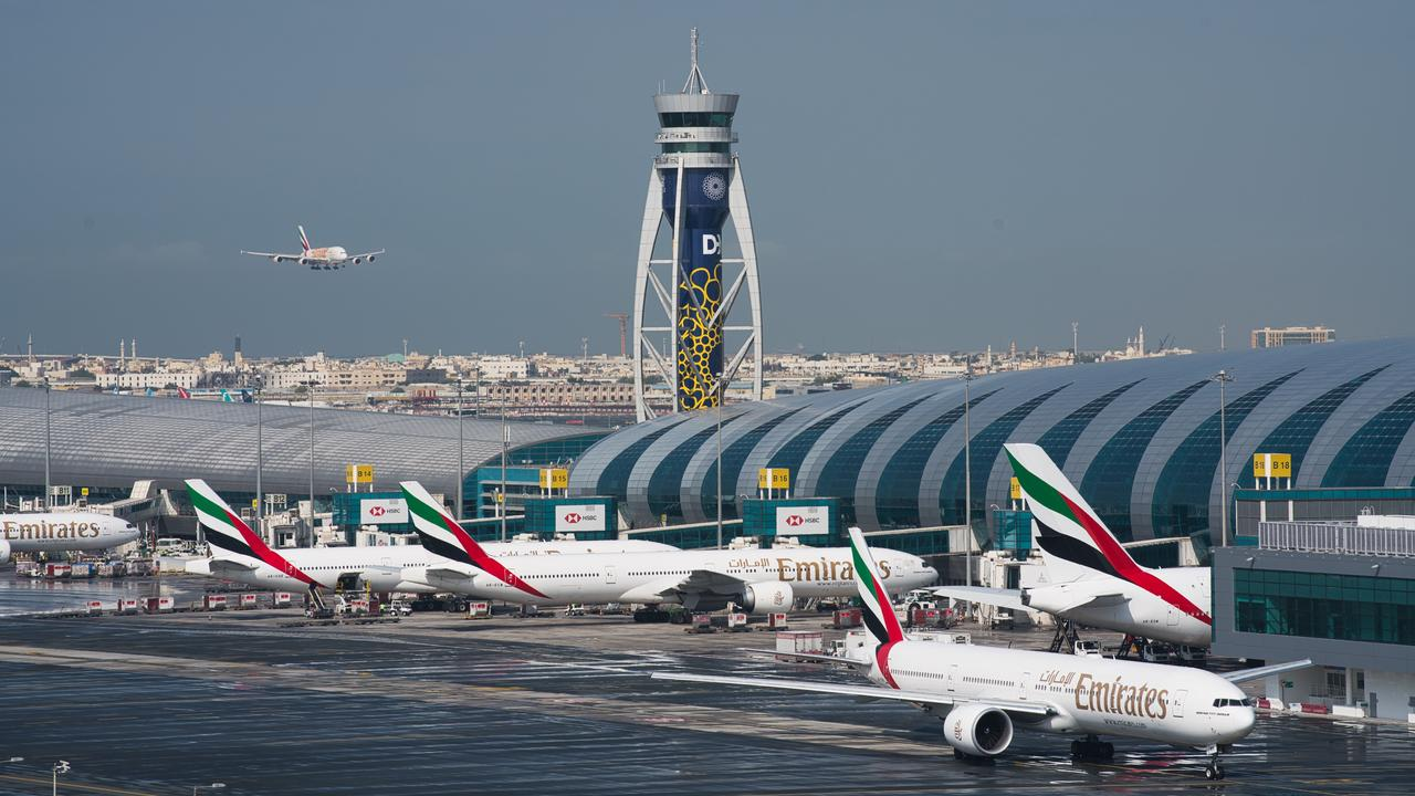Emirates flights will continue to a handful of countries around the world as long as borders remain open and there is demand. Picture: Jon Gambrell/AP