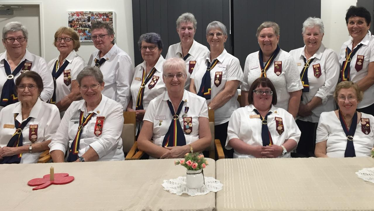 POWER IN NUMBERS: Back row (from left) Colleen Russell, Dorothy Moller, Charmaine Jensen, Ann Findlater, Anne Williams, Vicki Cope, Marjorie Johnson, Sheila Smyth, Jenny Horn and Sue Pullar. Front row Heather Tennent, Joan Gleeson (State Trefoil Advisor) Margaret Reid (State Trefoil Advisor Elect) , Amanda Pullar, Colleen Young and Merle Cole. Picture: Supplied