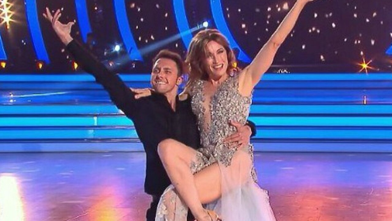 The dancers held hands, lifted each other and embraced on stage. Picture: Channel 10