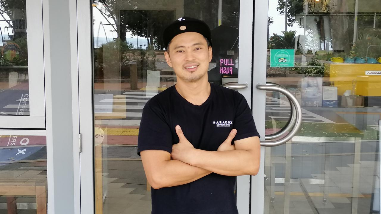 Elvin Bong, owner of Vinvero's Espresso, Scarness.