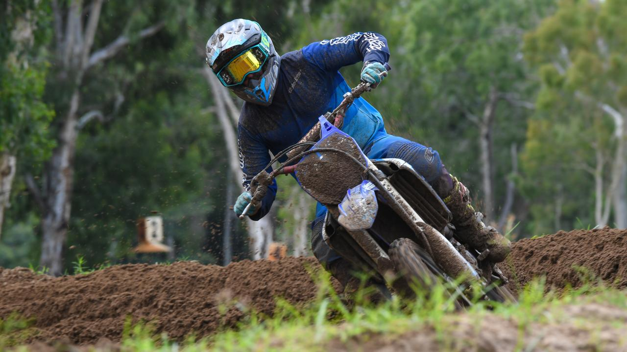 RIDING HIGH: Gladstone's Chris Butler finished with two second placings at the Rockhampton Motocross Club's race day on Sunday. Picture: Allan Reinikka.