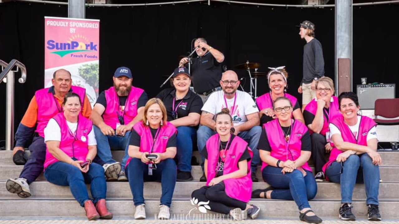 President of Kingaroy Chamber of Commerce and Industry Damien Martoo with the 2019 BaconFest committee. Photo: Madeline Grace