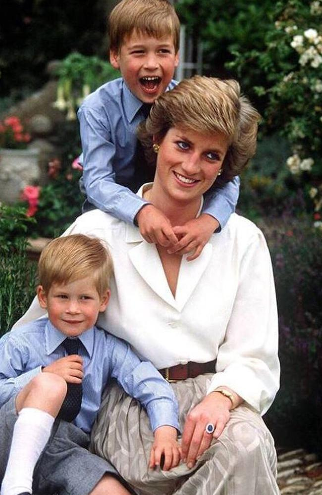 The post featured a playful snap of Princess Diana with Will and Harry. Picture: Instagram/KensingtonRoyal