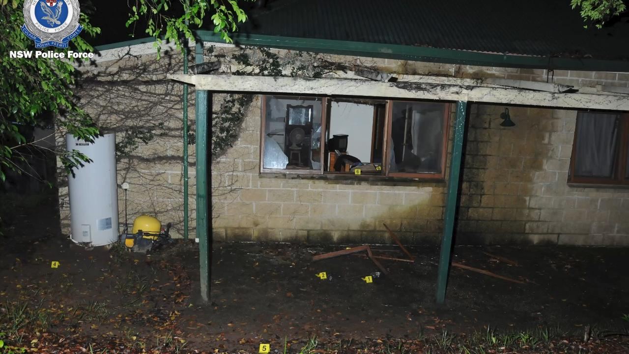 The blast caused significant damage and, while two women and a young child were inside the home at the time, no one was injured. Photo: NSW Police Force