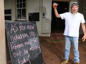 Pub serves last drinks in coronavirus crackdown