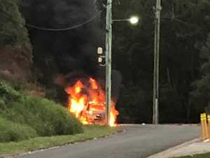 'There were explosions': Car destroyed on quiet Coast street