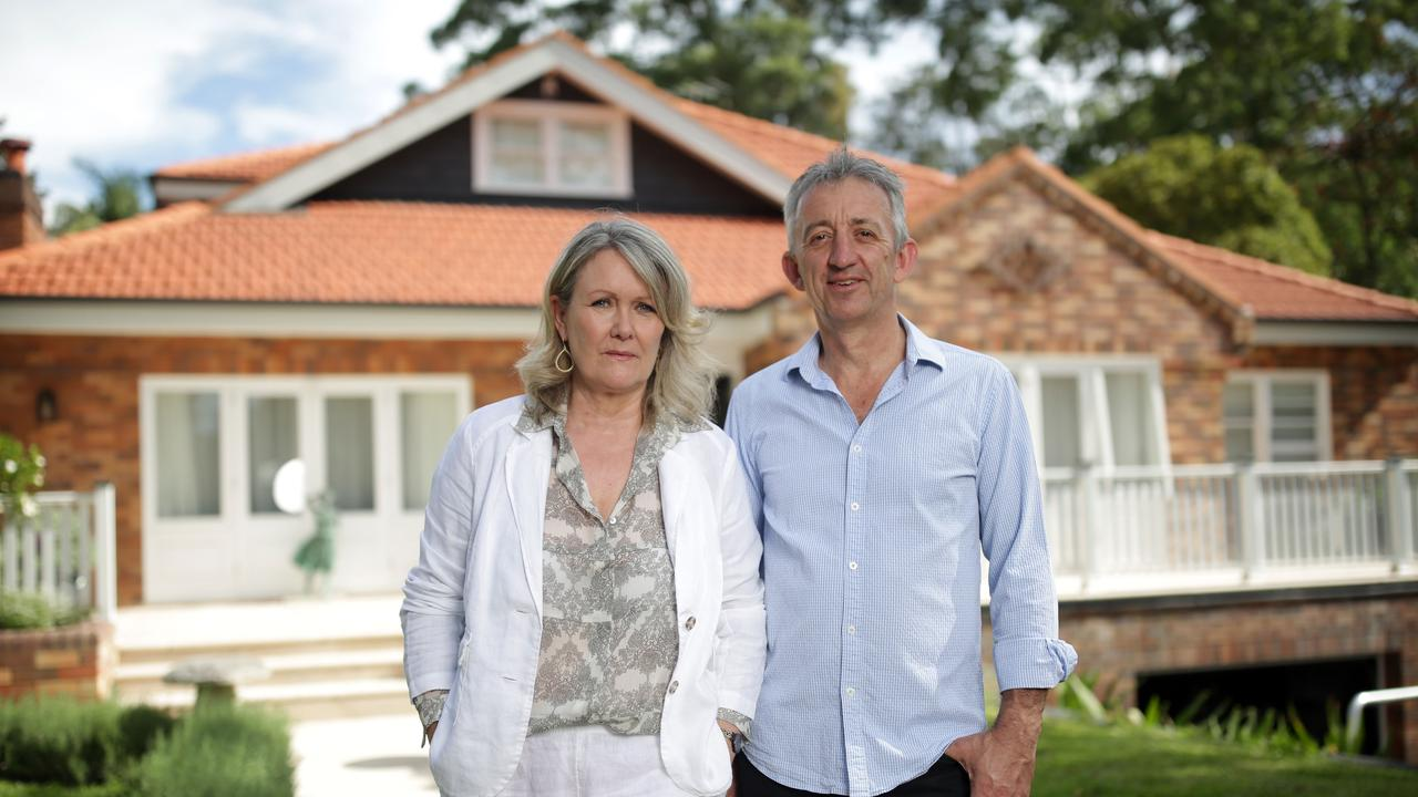 Christine and David Biddle at their home in Wahroonga. Picture: Christian Gilles