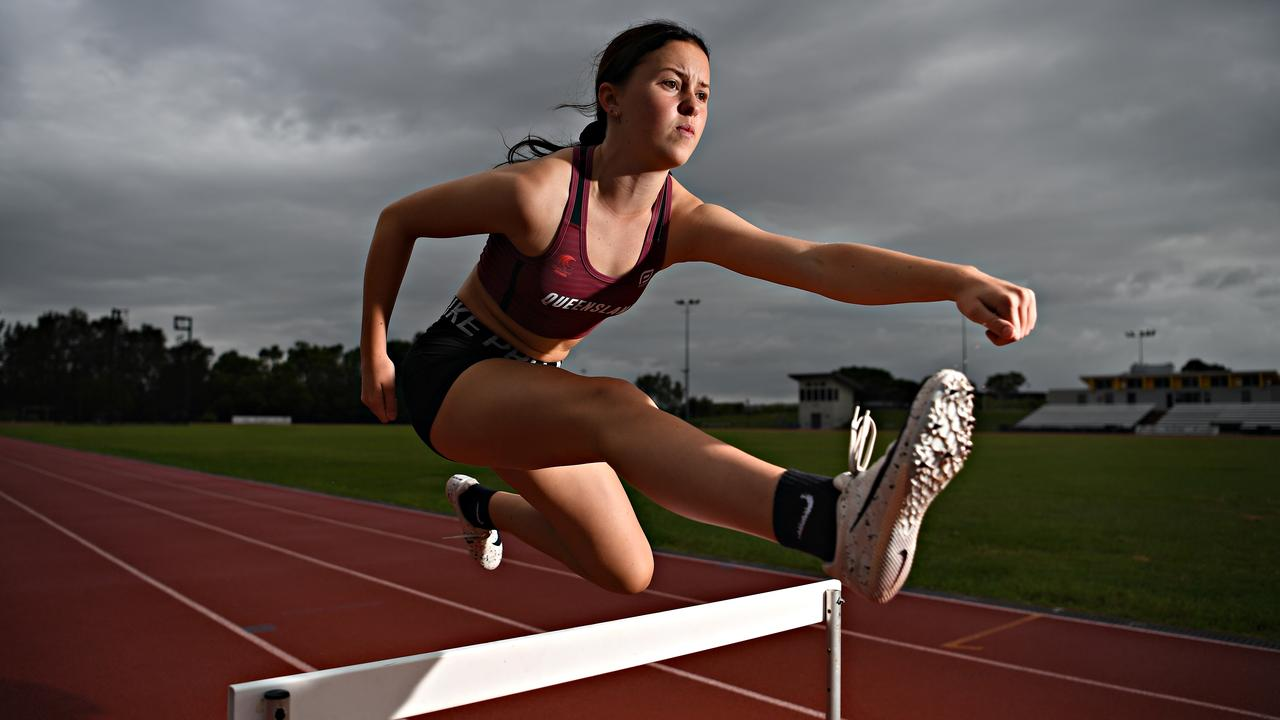 CRUSHED: Year 10 Coolum High School student Kobi Higgins had her dreams crushed after the 2020 Australian Nationals Athletics Championships were cancelled. Picture: Warren Lynam
