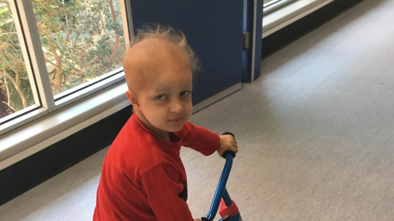 Peter's son spent many weeks in hospital battling cancer. Picture: Supplied