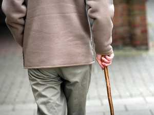 Staff threatened with walking stick for drug stash