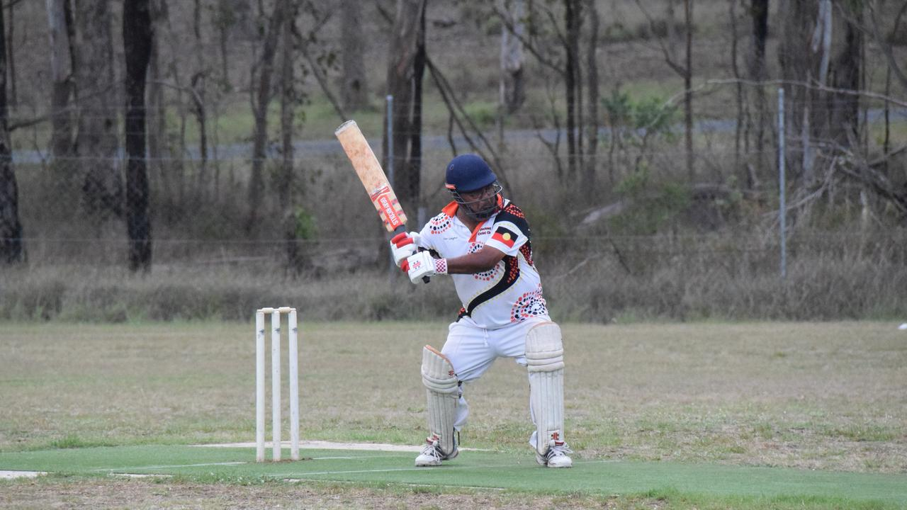 Cherbourg vs. Nanango in round 13 of the South Burnett B Grade Cricket. (Picture: Tristan Evert)