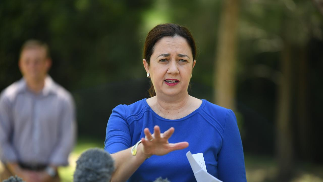 Premier Annastacia Palaszczuk has detailed how border closures will work, including police roadblocks. Picture: AAP