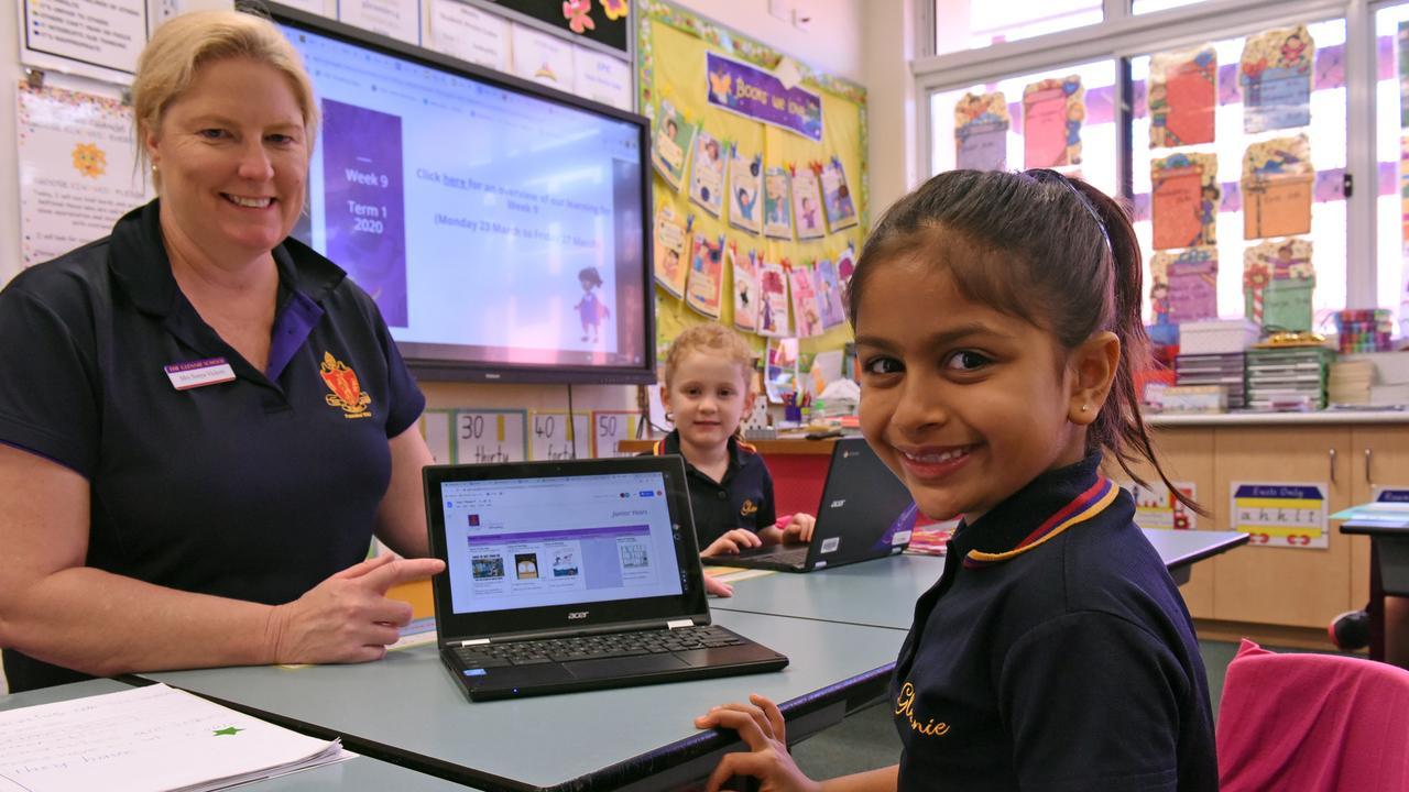 E-LEARNING: Exploring The Glennie School's new online platform are (from left) Year 1/2 teacher Sonya Vickers, Annesley Morgan and Shanaya Bhardwaj.