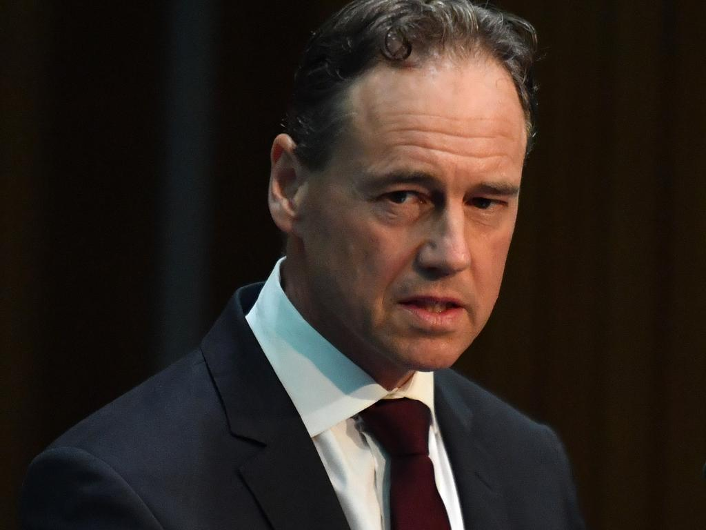 Minister Health Greg Hunt said further restrictions were likely. Picture: AAP Image/Mick Tsikas