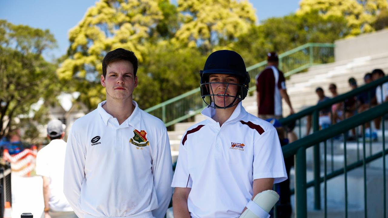 Lismore Workers opening batsmen Tom Standish and Zac Ewing. Workers finished second in Far North Coast LJ Hooker League cricket. Photo Ursula Bentley@CapturedAus