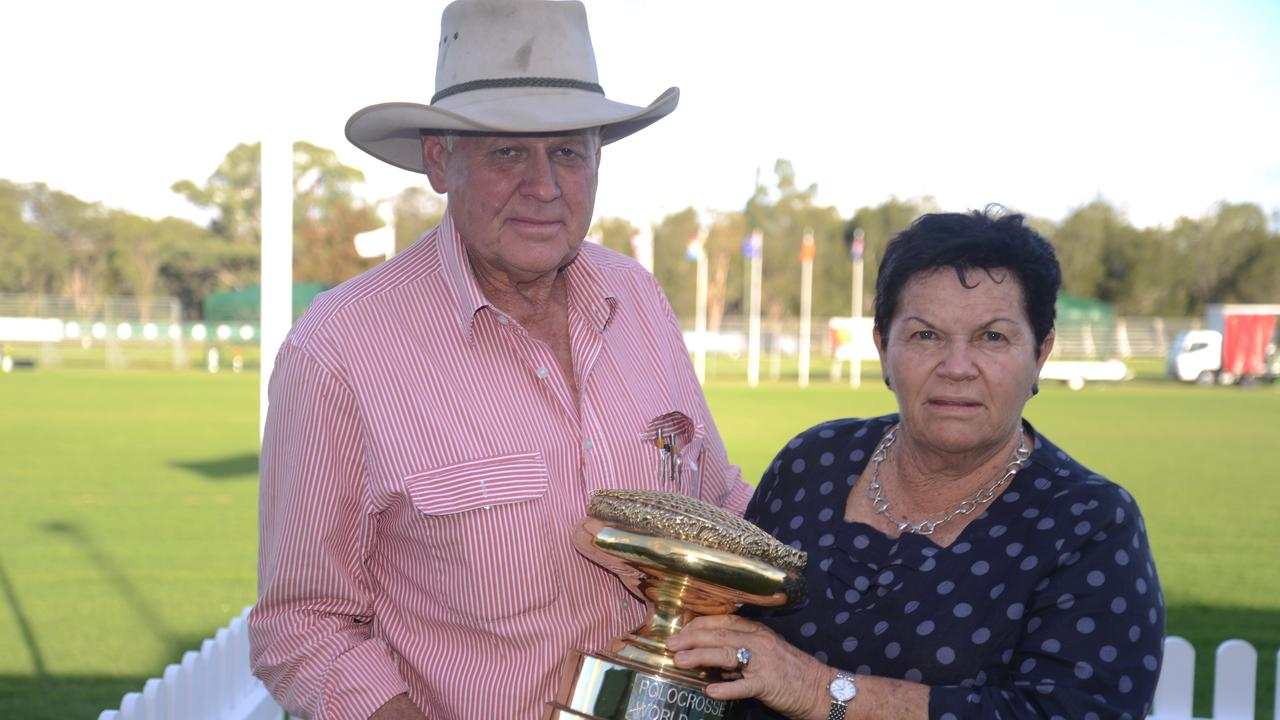 Warwick Polocrosse Club president Les Fraser and treasurer Robyn Fraser celebrated the World Club last year, and are thankful the event isn't happening this year.