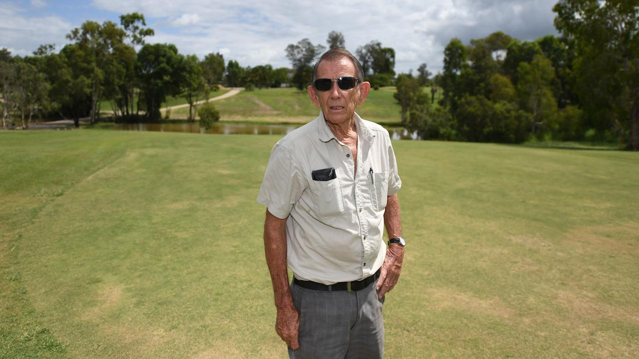 'IT'S TERRIBLE': North Rockhampton Golf Club president Kevin Young cannot believe that his course and others around the state have been forced to close. Picture: Allan Reinikka.
