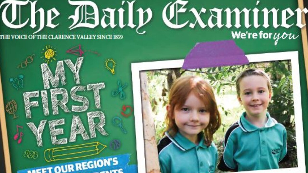 The 12-page liftout My First Year featuring kindy photos from schools across the Clarence Valley is inside The Daily Examiner on Wednesday, 25th March, 2020.