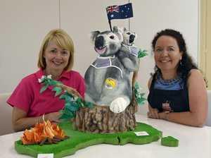 Koala cake tells a tale for cancer