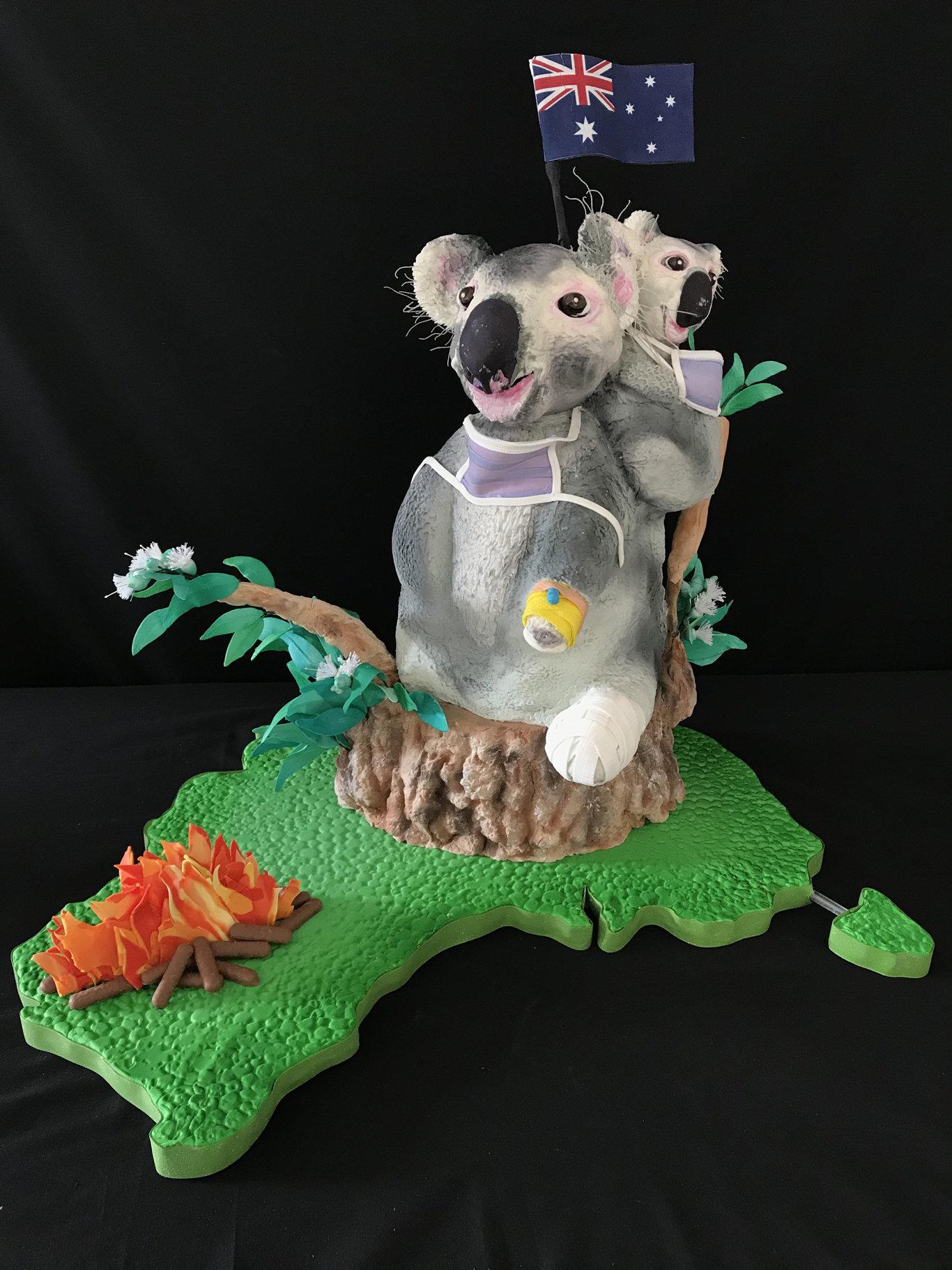 Koala cake made by Sarah Cerqui for breast cancer fundraiser.