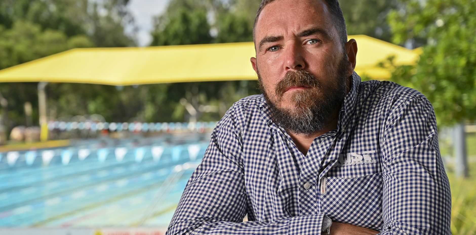 General manager of Just Sports n Fitness, Matt Johnstone at the Bundamba pool. Picture: Cordell Richardson