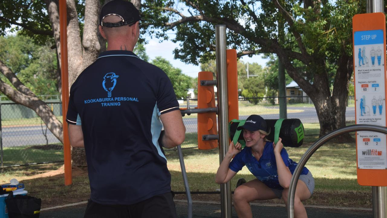 EXERCISE: Training his clients looks different for Jamie Hurley during the COVID-19 pandemic.