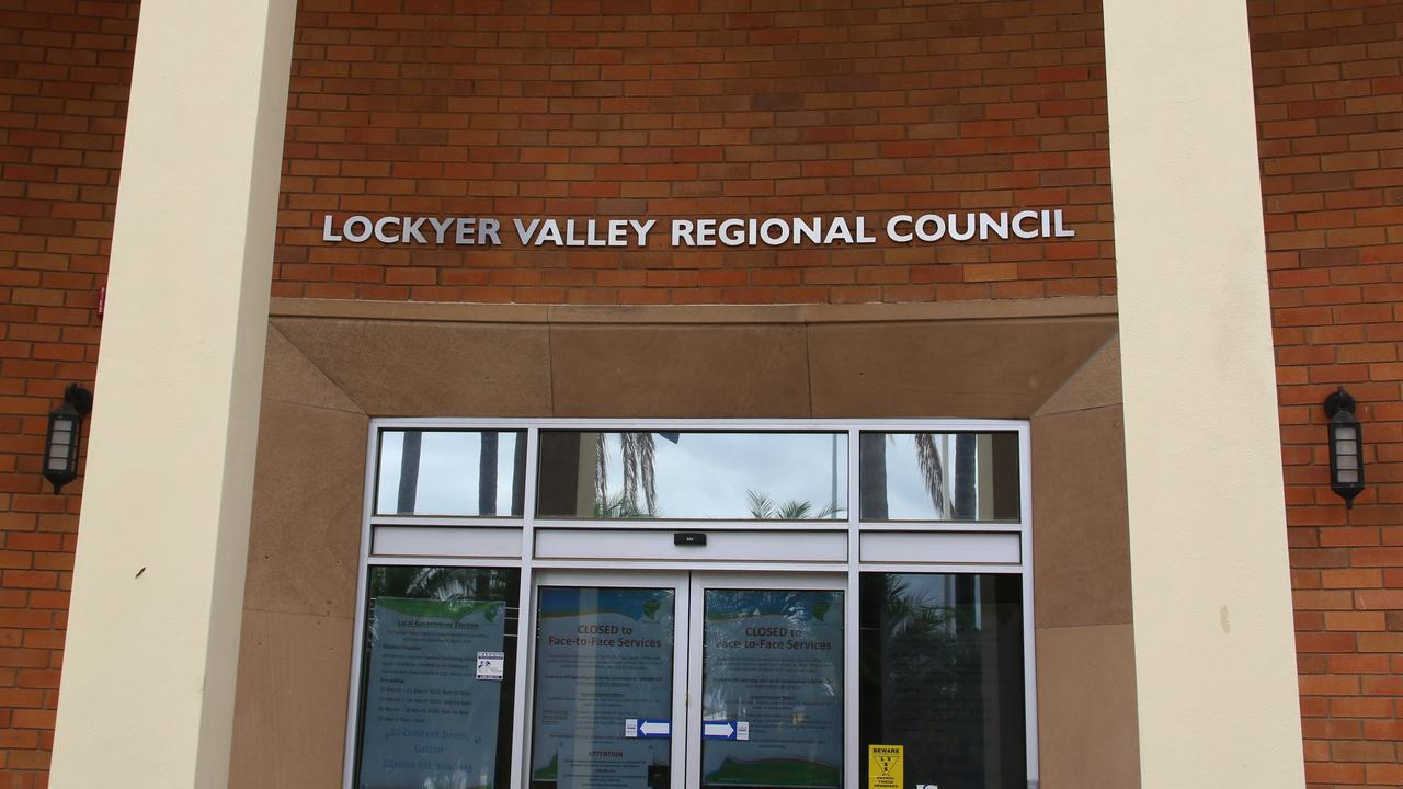 STAY HOME: Lockyer Valley Regional Council Chambers were closed to public, as councillors urged residents to take the coronavirus seriously. Picture: Dominic Elsome
