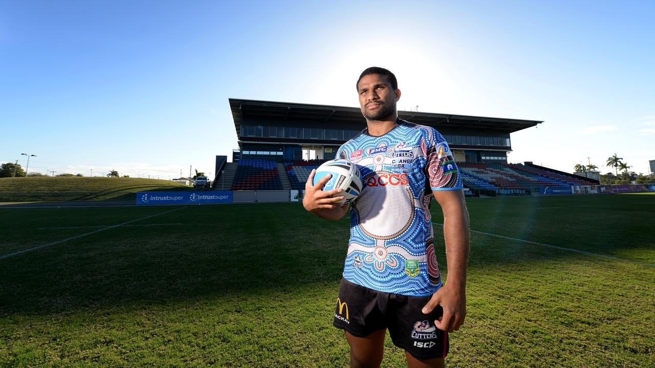 KEEPING TOUCH: Mackay Cutters coach Michael Crawley may be stuck at home, but his head is at BB Print Stadium with skipper Jayden Hodges (pictured) and the rest of his playing group.