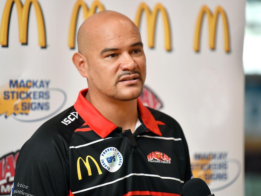 Mackay Meteors coach Joel Khalu. Picture: Tony Martin