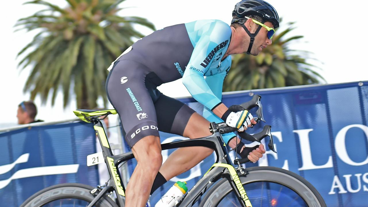 LEADER: One of Pro Racing Sunshine Coast's top riders, Michael Freiberg during the Bay Crits in Geelong. Picture: Stephen Harman