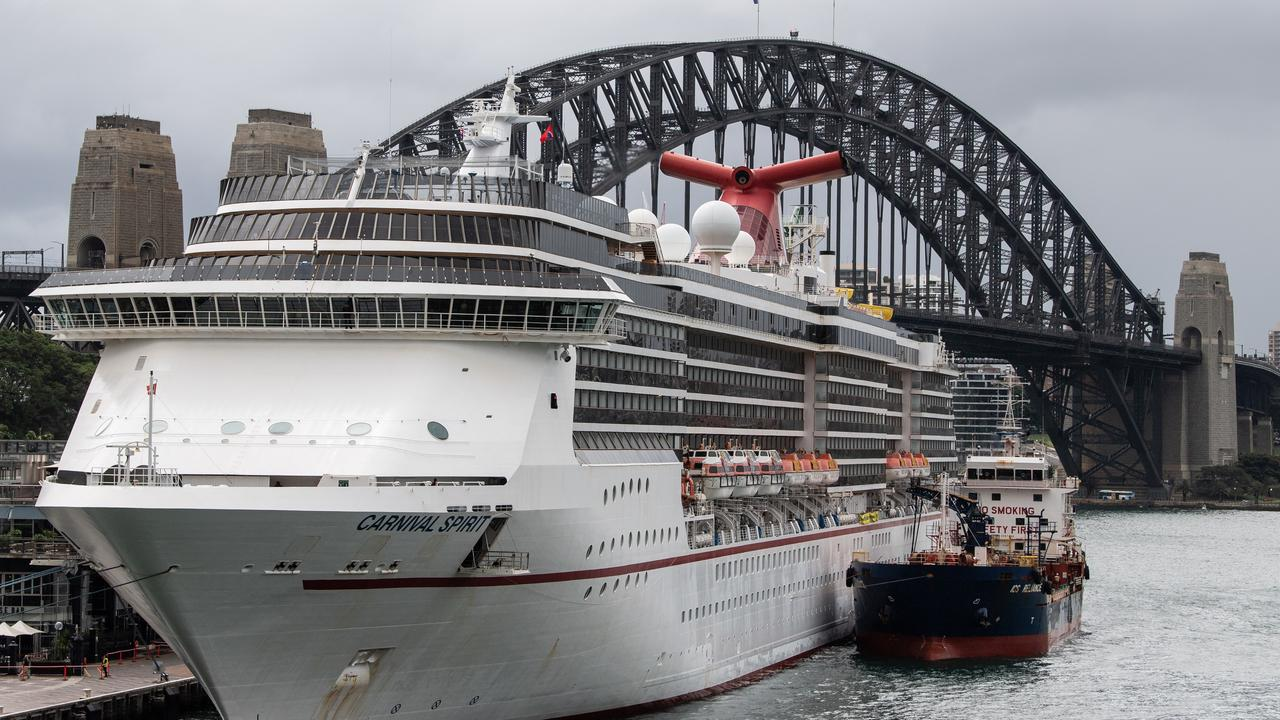 The Carnival Spirit Cruise Ship docked in Sydney, Monday, March 16.