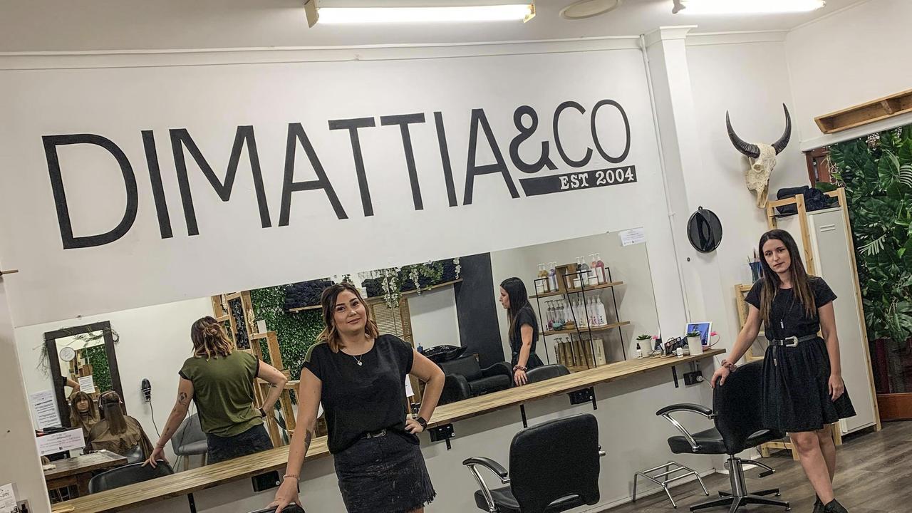 DiMattia & Co staff Isabella DiMattia and Luci Monaghan in their salon.