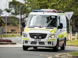 Two injured after bike and vehicle collide