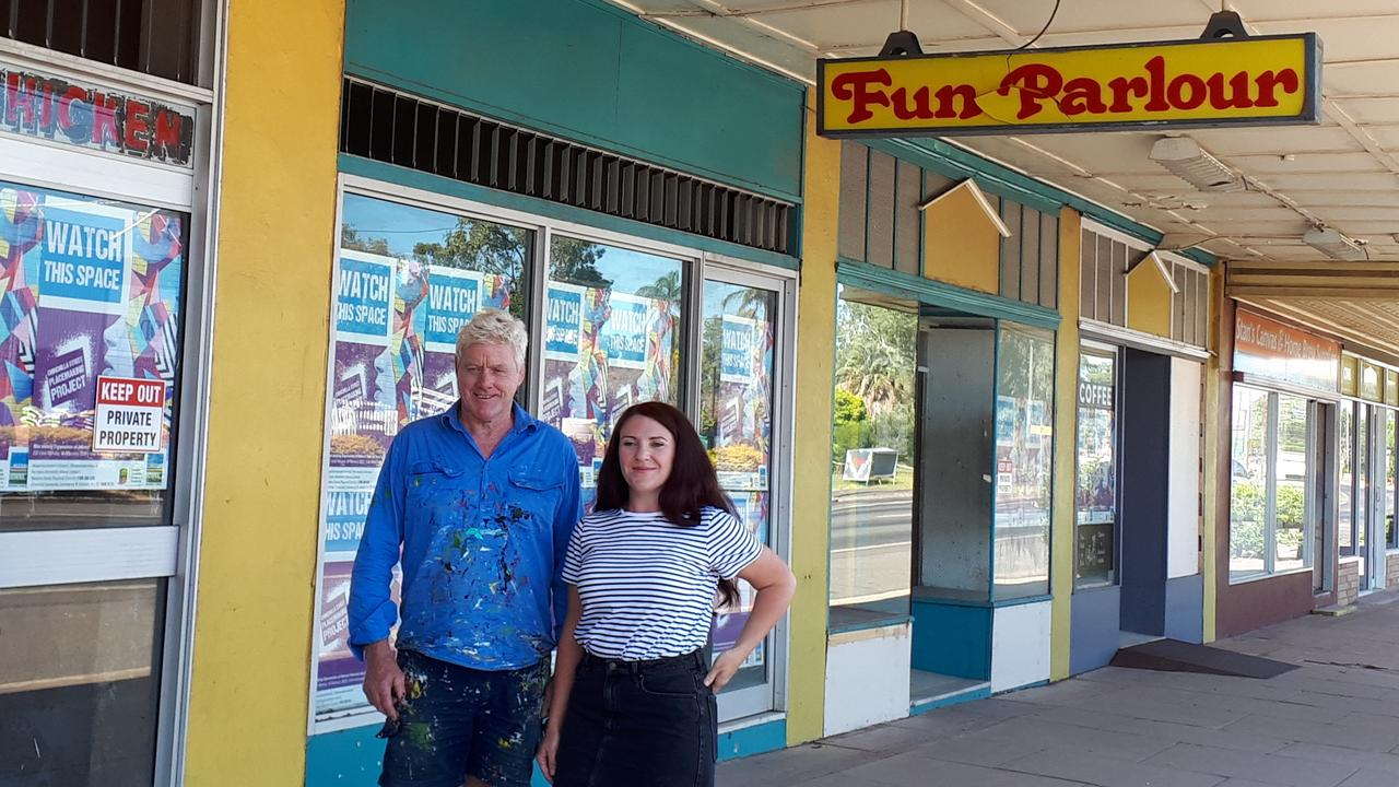 FRESH NEW LOOK: Chinchilla Placemaking Project artists Graeme McCullough and Regina Hyland.