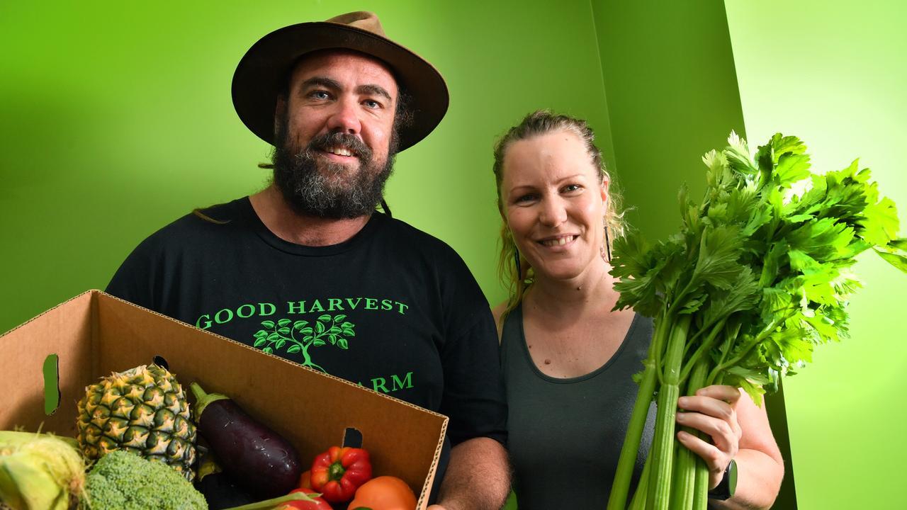 Mick Dan and Kelly Burton of Good Harvest Organic Farm hope to feed 1000 families a week with fresh, organic produce. Photo: John McCutcheon / Sunshine Coast Daily