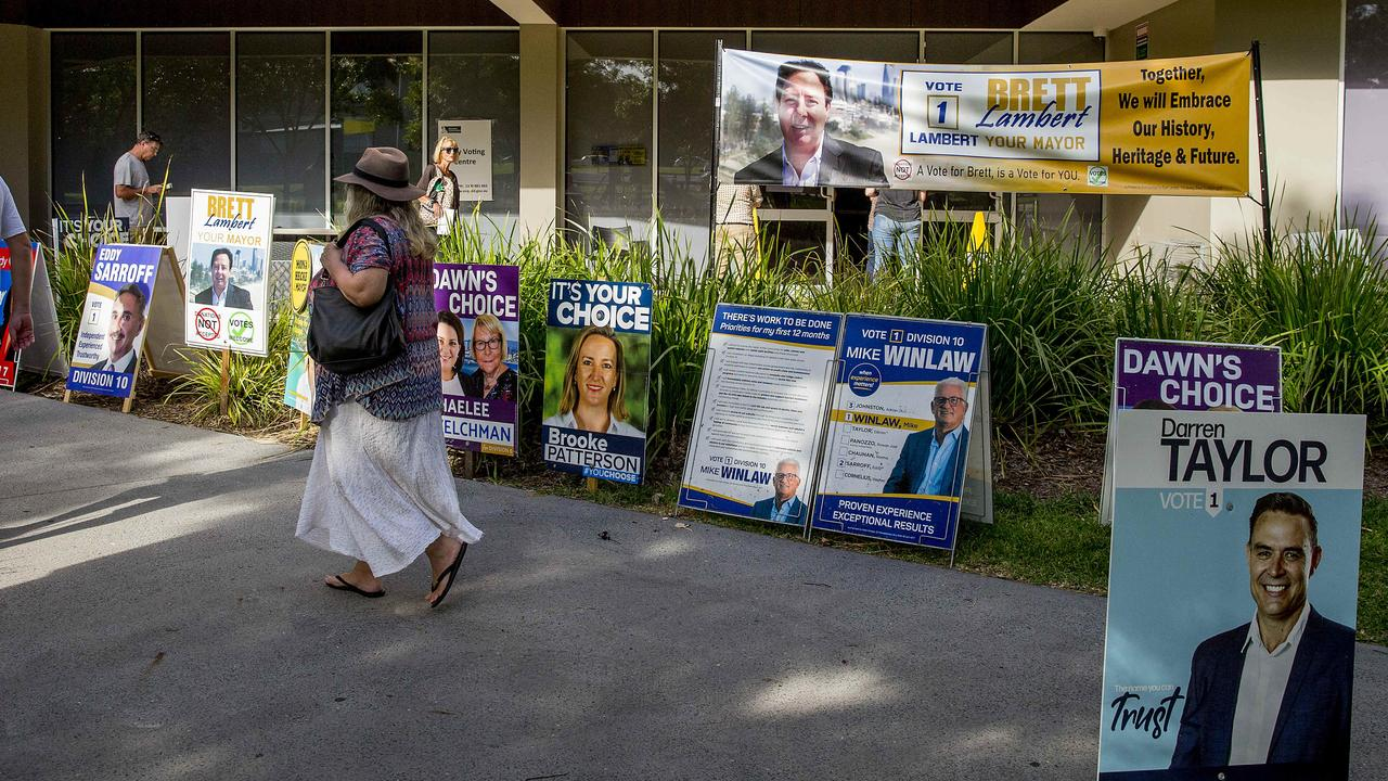 More than 50 per cent of the voting public have already cast their ballots in pre-poll. Picture: Jerad Williams