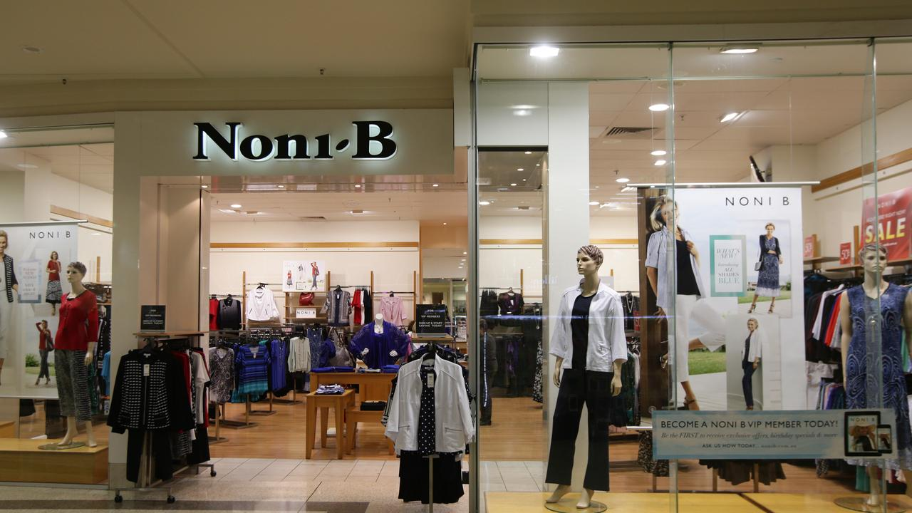 Noni B is among the clothing retailers to close.