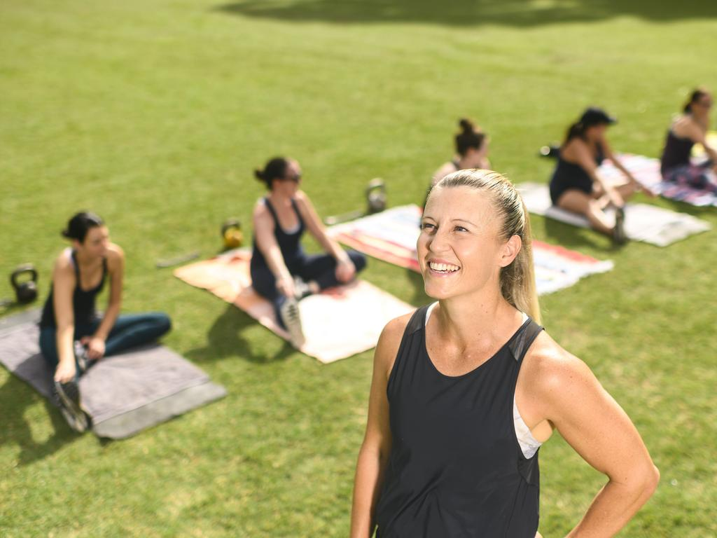 Outdoor personal trainer Amy Mitchell was still teaching yoga, however that may have to change due to the latest interventions. Picture: Darren Leigh Roberts