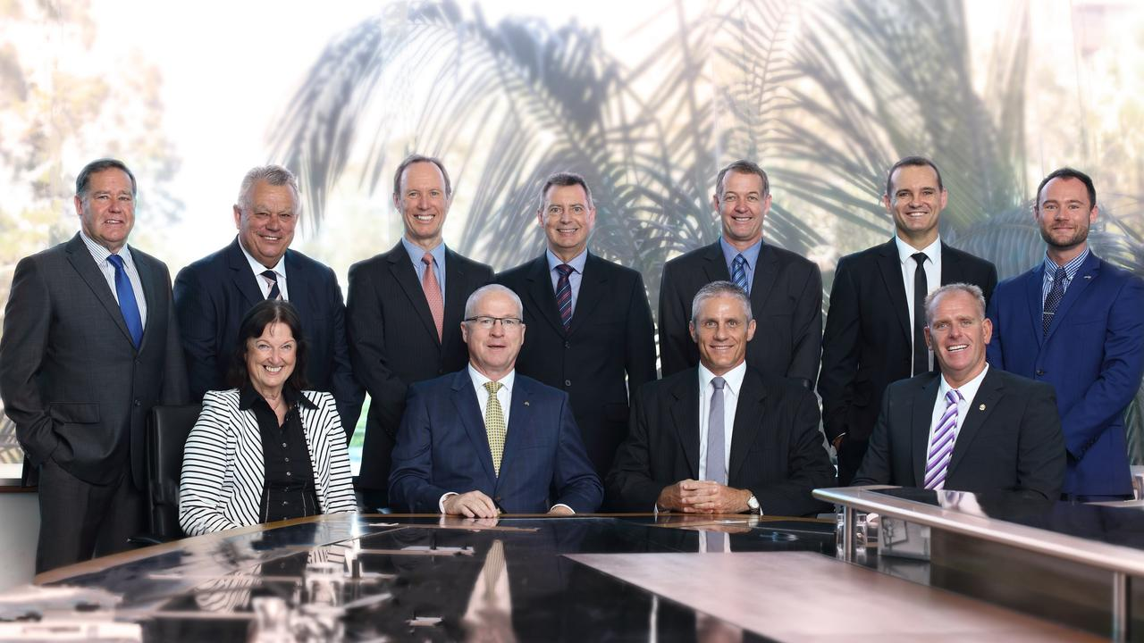 NEW ERA: The newest instalment of the Sunshine Coast Council, elected on March 19, 2016, gathered at the Caloundra chamber. A new council will be elected when voters cast their ballots on Saturday, March 28.
