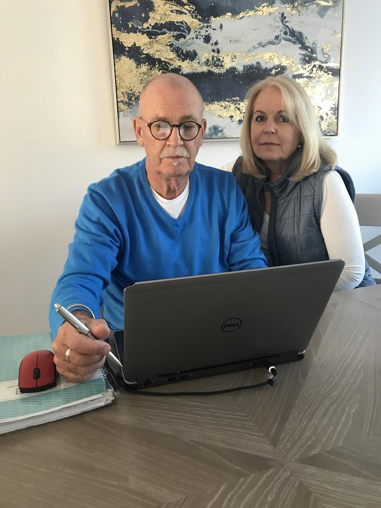 Gympie Times ad rep Andrew and Deborah Guiver are two Aussies stranded in the UK, and are desperate to get home.