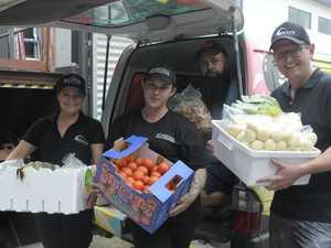 Restaurant donates food to homeless