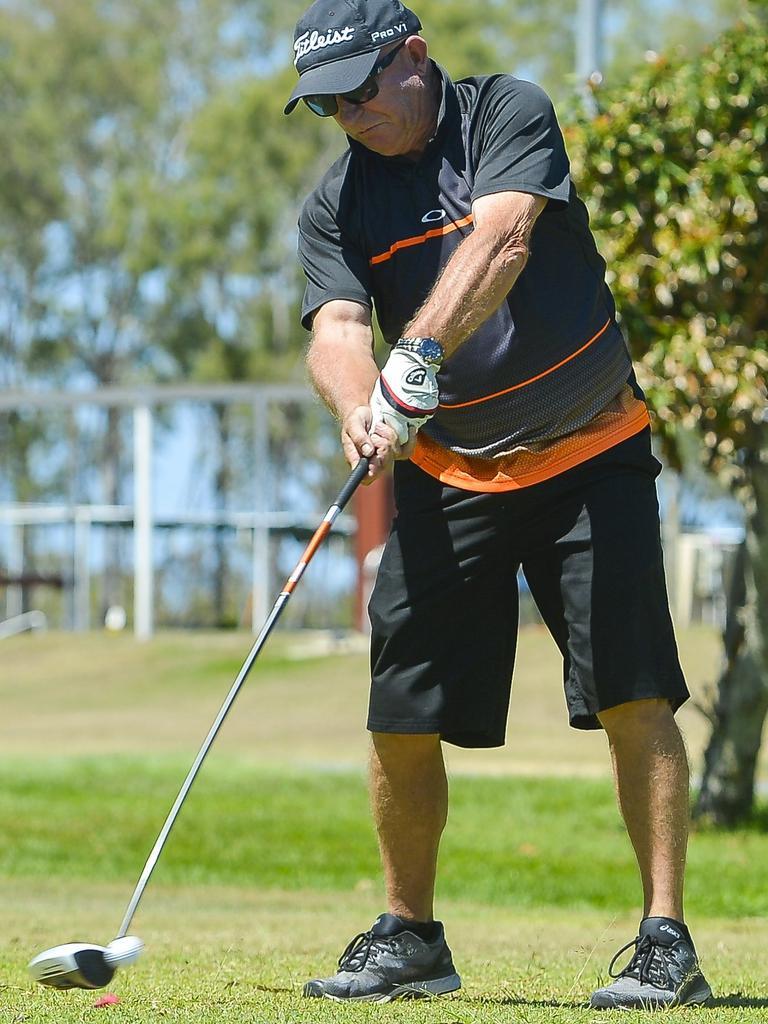 Allan Mostert at the BITS Saints' AFL golf day, held at Boyne Island Golf Club on 15 September 2018. PICTURE: Matt Taylor