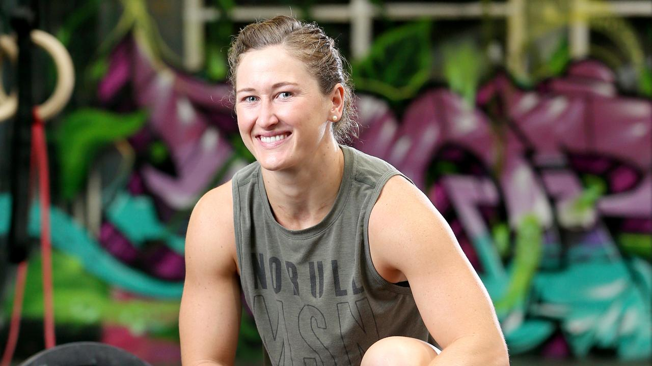 Tia-Clair Toomey, for preview to Torian Pro Cross Fit event at Pat Rafter Arena, at Cross Fit gym Bowen Hills, on Thursday 7th November 2019 – Photo Steve Pohlner
